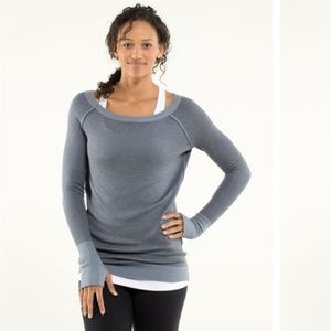 Lululemon CHAI TIME blue pullover rayon tercel M/L